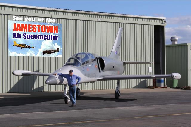 Kev Warren's L39 jet. See you at Jamestown 2012