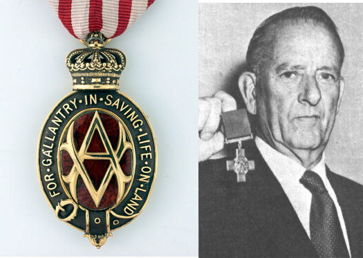 Albert medal McAloney George Cross